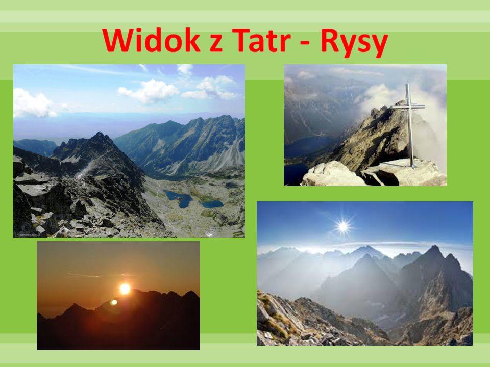 Widok z Tatr - Rysy