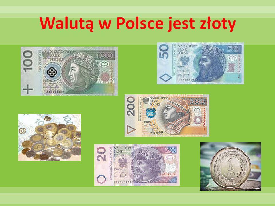 Walutą w Polsce jest złoty