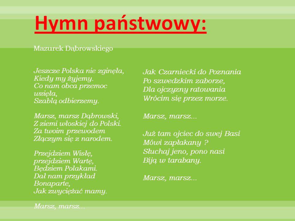 Hymn państwowy: