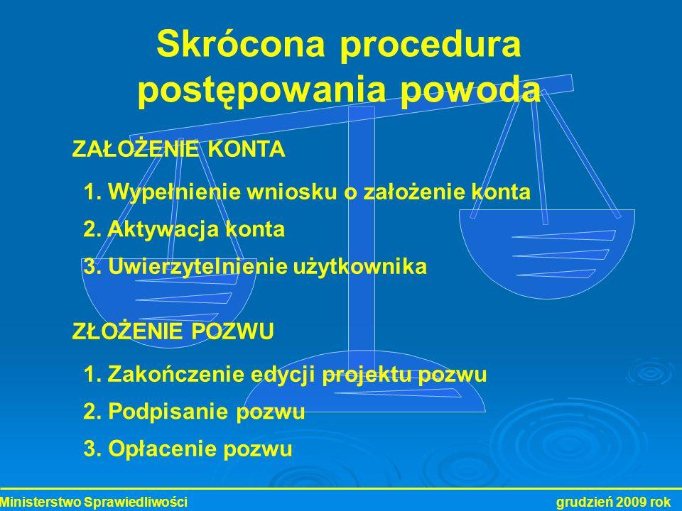 Skrócona procedura postępowania powoda