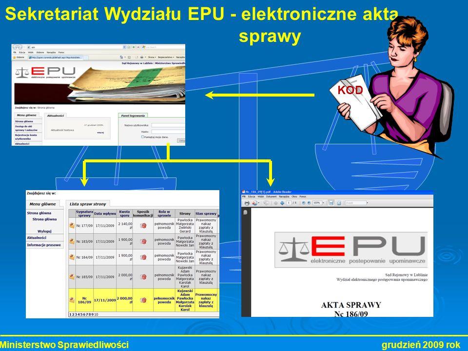 Sekretariat Wydziału EPU - elektroniczne akta sprawy