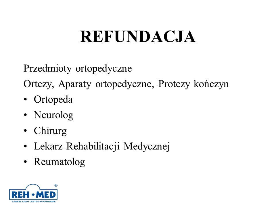 REFUNDACJA Przedmioty ortopedyczne