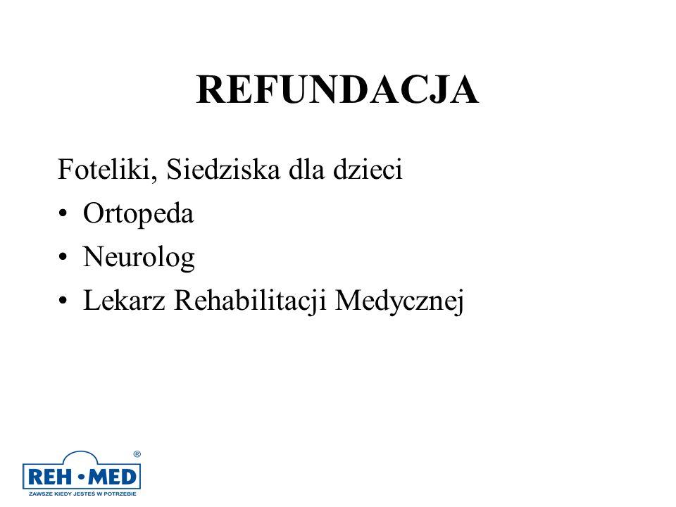 REFUNDACJA Foteliki, Siedziska dla dzieci Ortopeda Neurolog