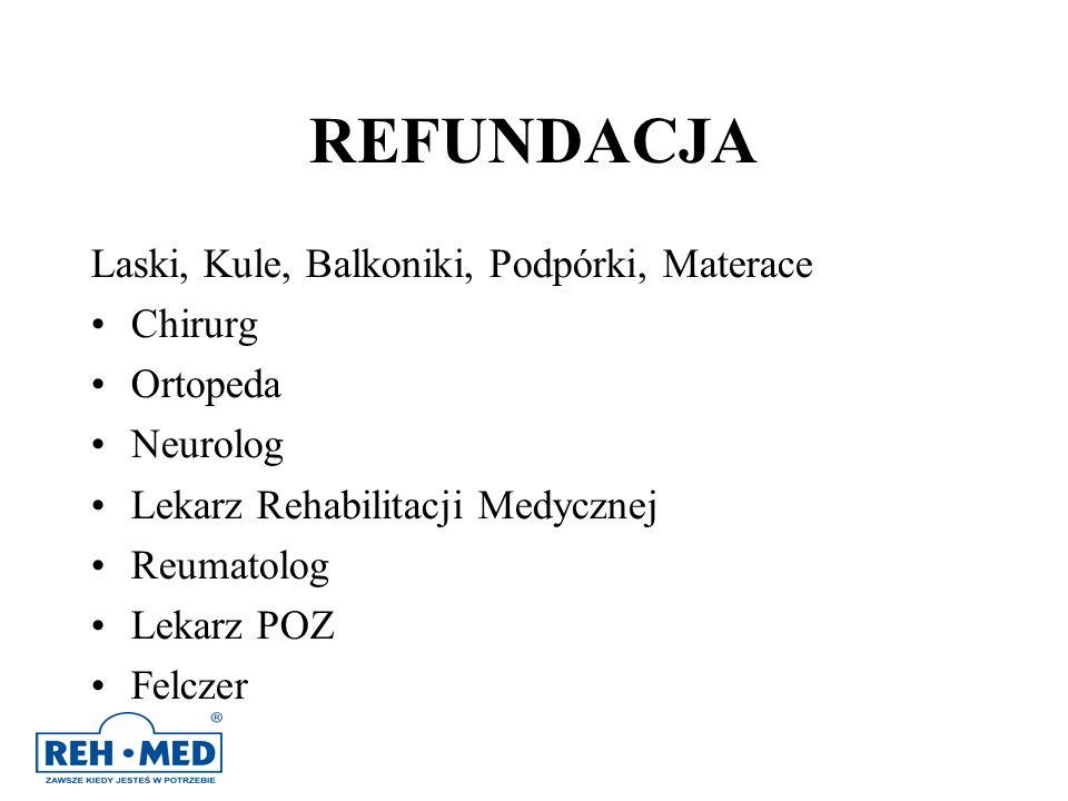 REFUNDACJA Laski, Kule, Balkoniki, Podpórki, Materace Chirurg Ortopeda