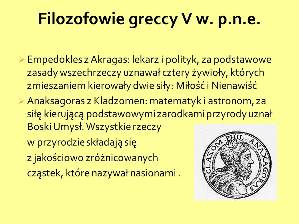 Filozofowie greccy V w. p.n.e.