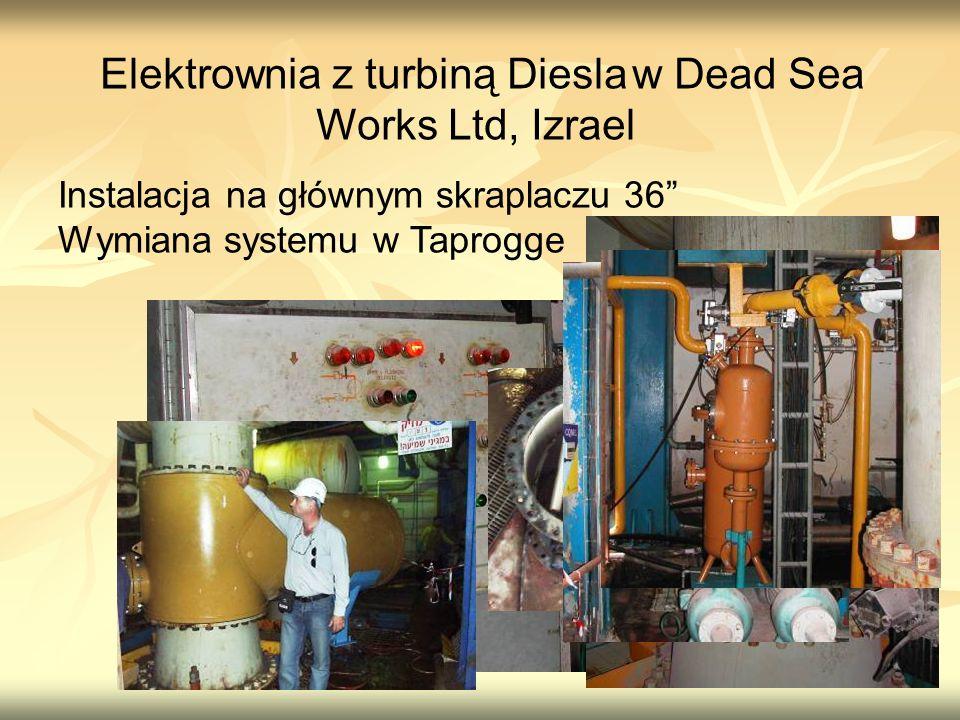 Elektrownia z turbiną Diesla w Dead Sea Works Ltd, Izrael
