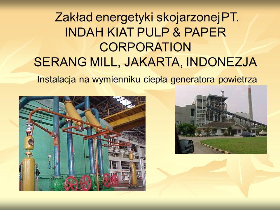 Zakład energetyki skojarzonej PT. INDAH KIAT PULP & PAPER CORPORATION