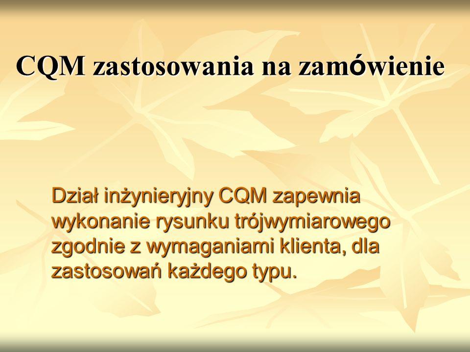 CQM zastosowania na zamówienie