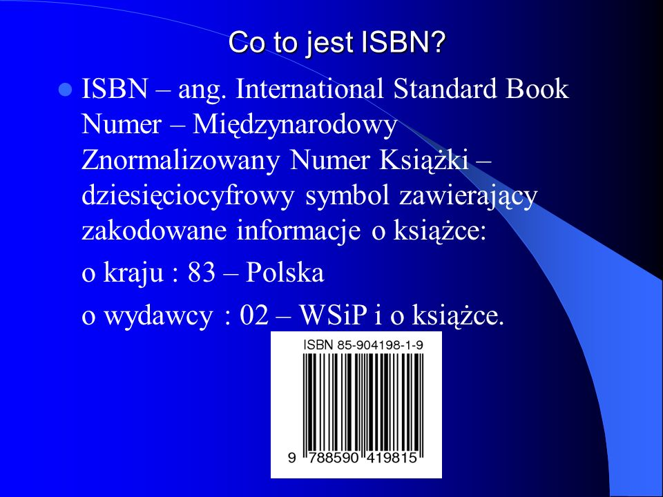 Co to jest ISBN