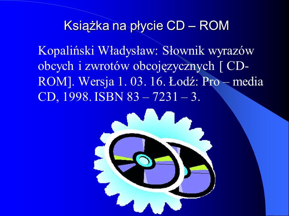 Książka na płycie CD – ROM