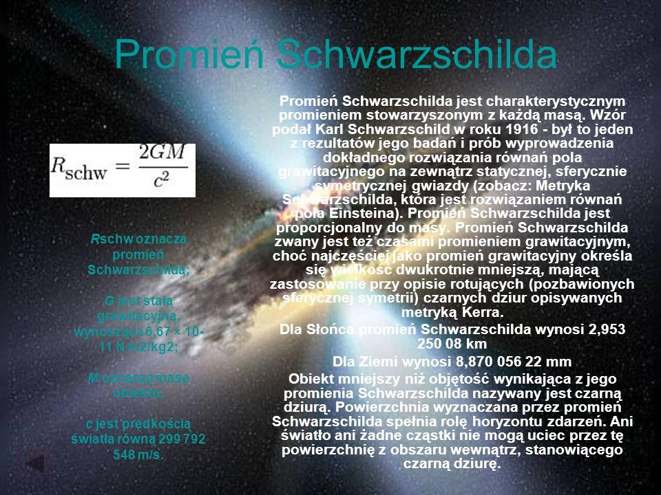 Promień Schwarzschilda