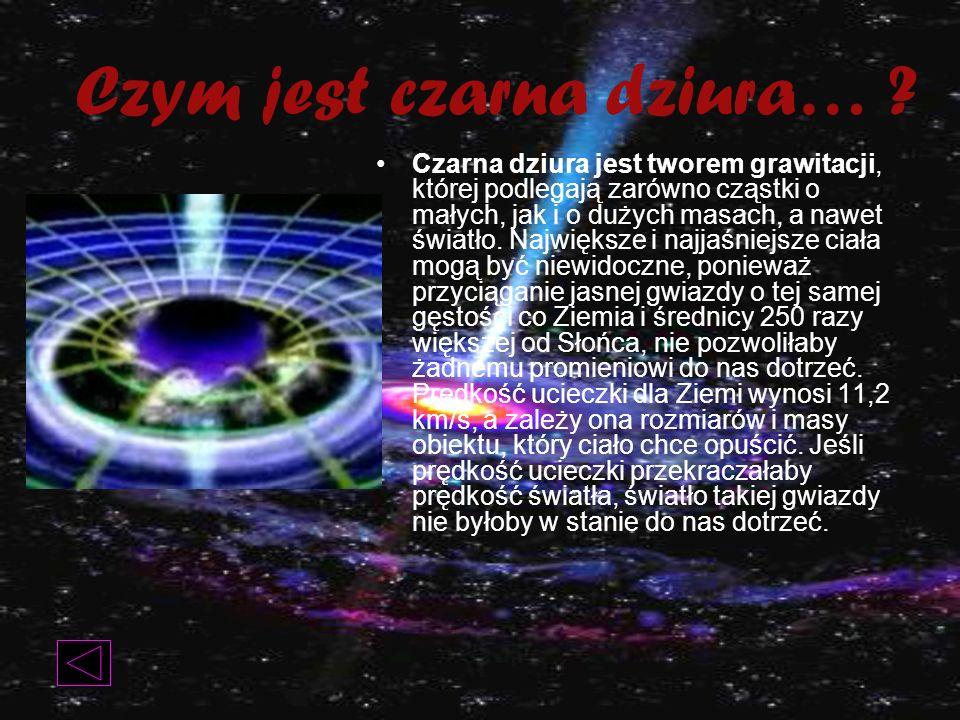 Czym jest czarna dziura…