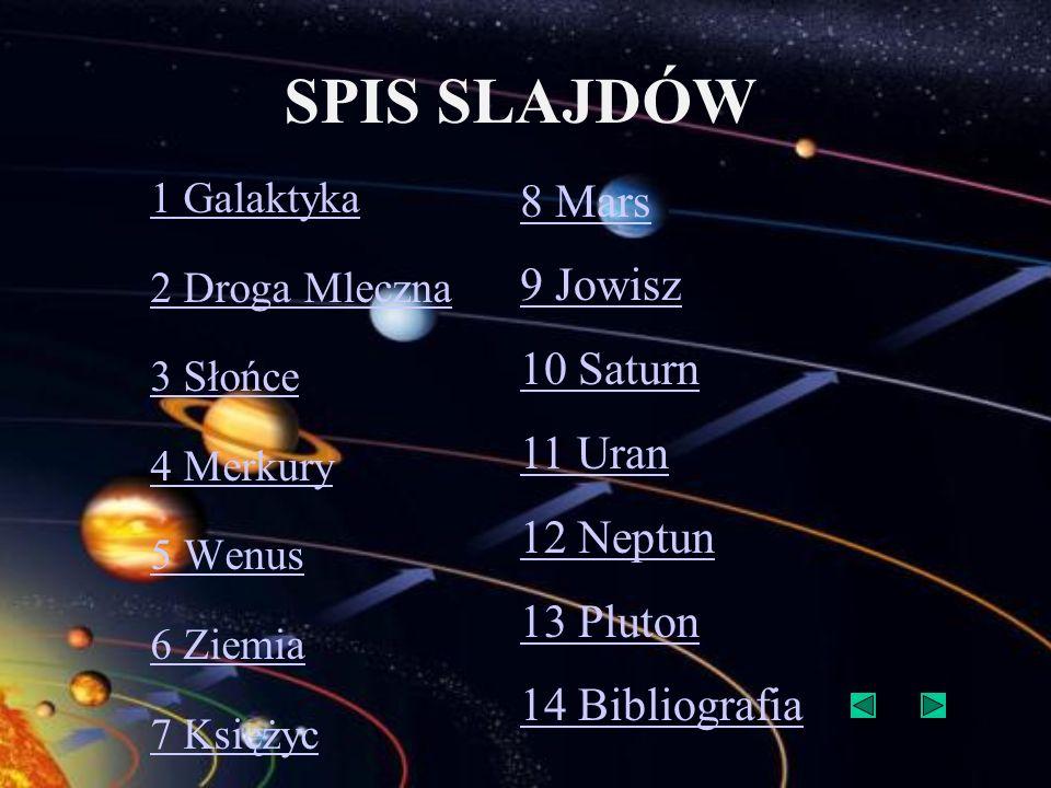 SPIS SLAJDÓW 8 Mars 9 Jowisz 10 Saturn 11 Uran 12 Neptun 13 Pluton