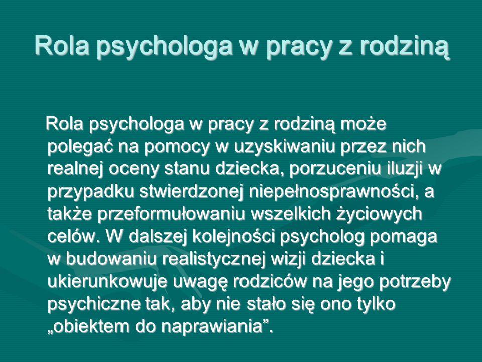 Rola psychologa w pracy z rodziną