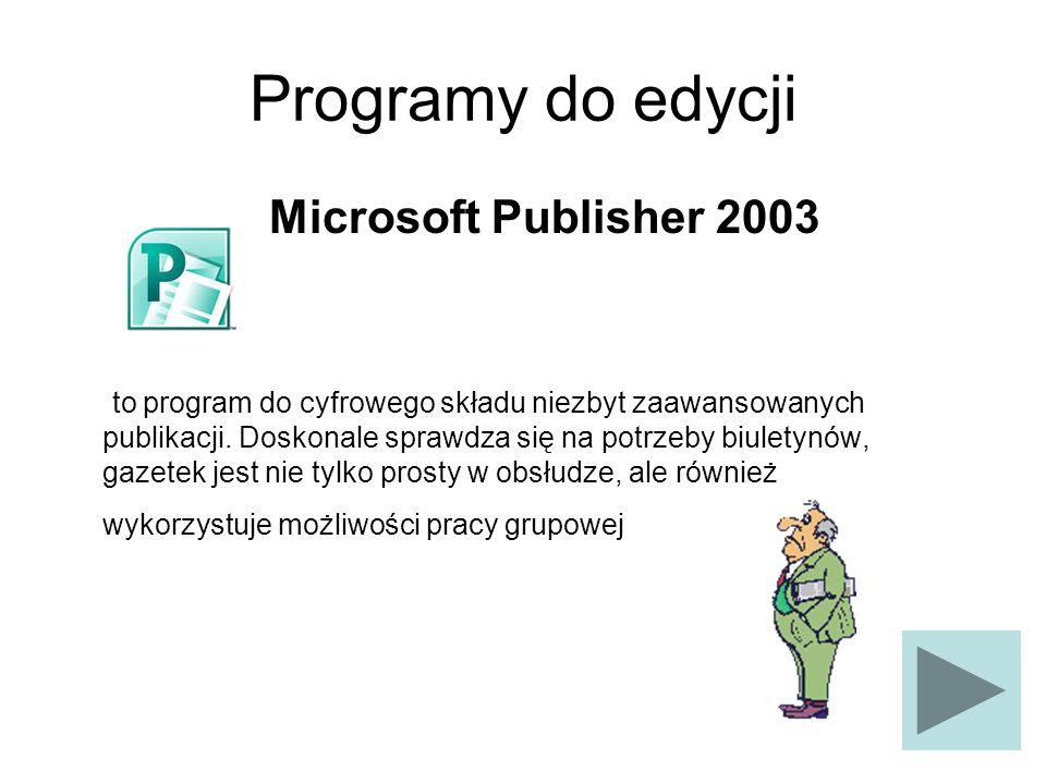 Programy do edycji Microsoft Publisher 2003