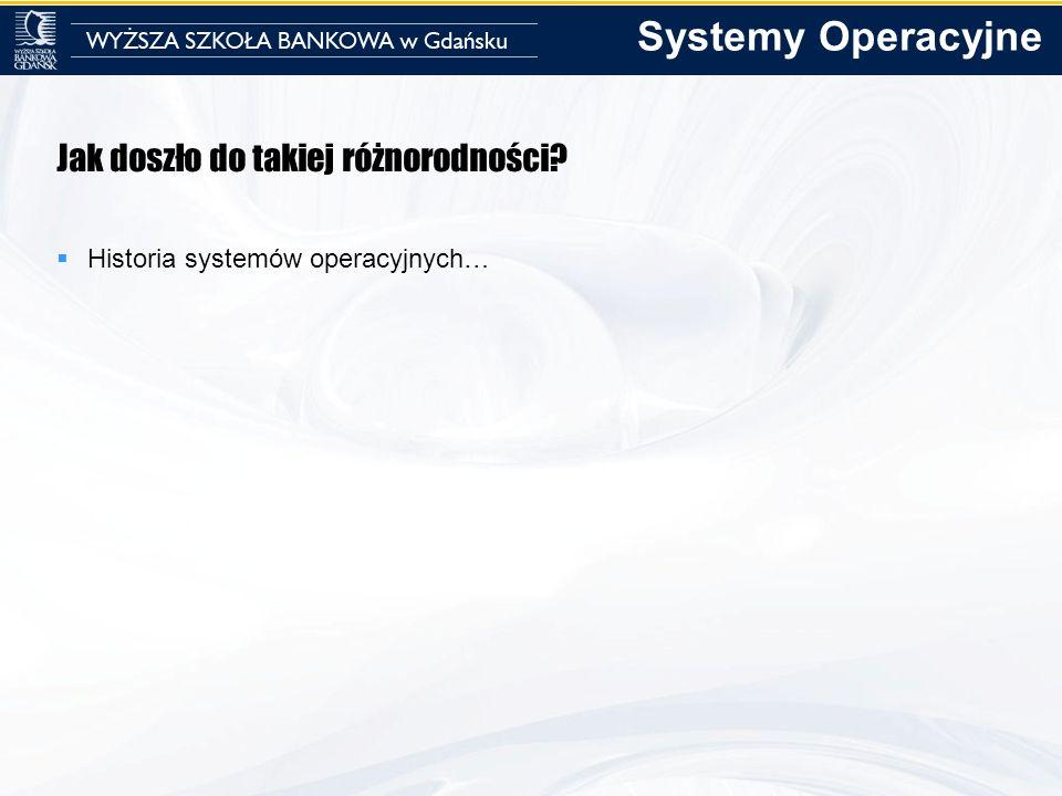 Systemy Operacyjne Jak doszło do takiej różnorodności