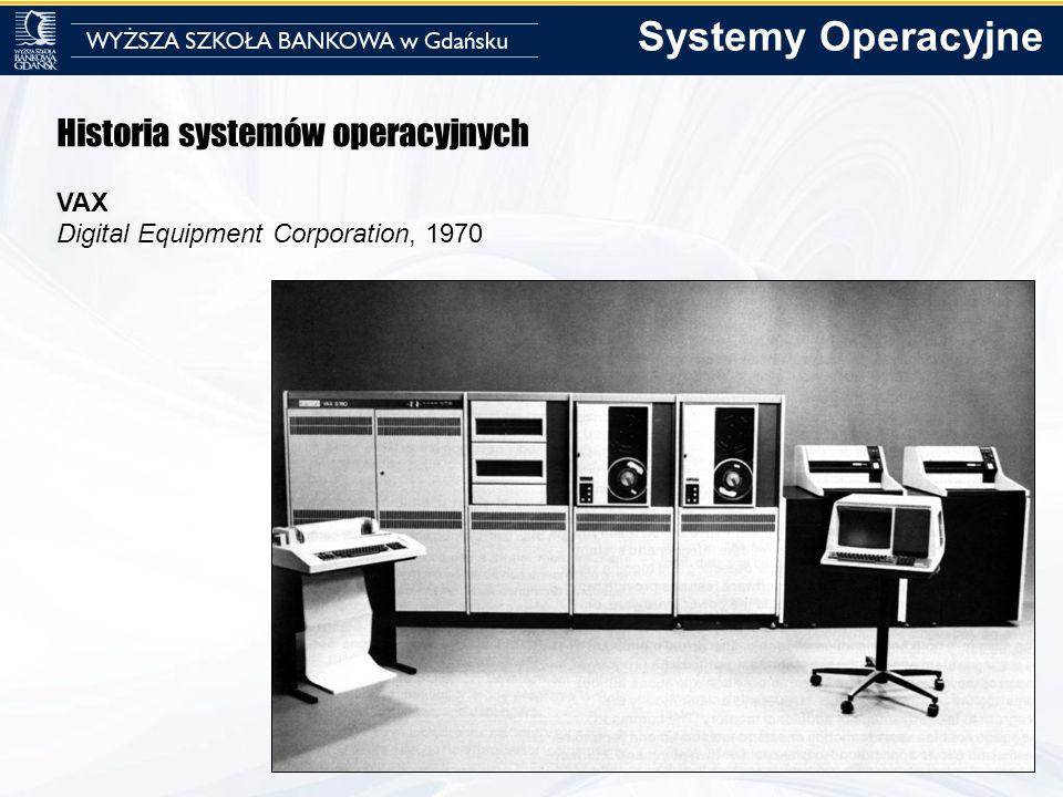 Systemy Operacyjne Historia systemów operacyjnych VAX