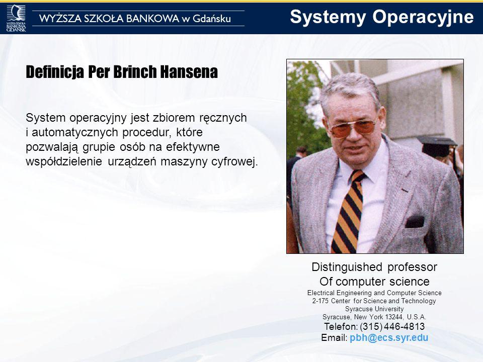 Systemy Operacyjne Definicja Per Brinch Hansena