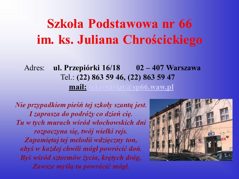 Szkoła Podstawowa nr 66 im. ks. Juliana Chrościckiego
