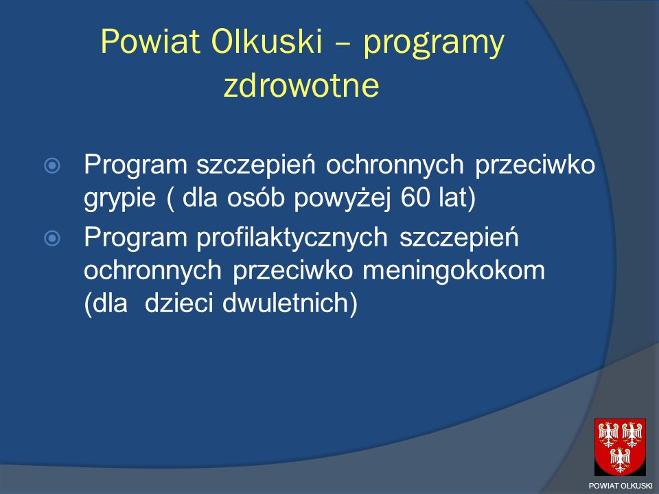 Powiat Olkuski – programy zdrowotne