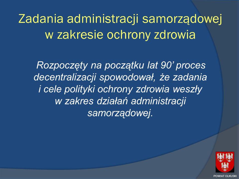 Zadania administracji samorządowej w zakresie ochrony zdrowia