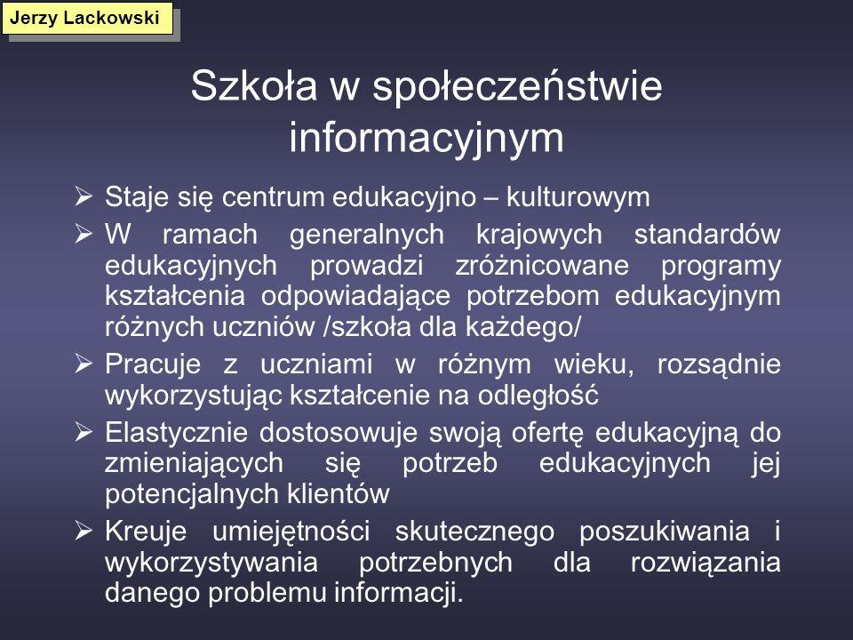 Szkoła w społeczeństwie informacyjnym
