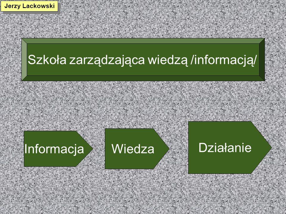 Szkoła zarządzająca wiedzą /informacją/