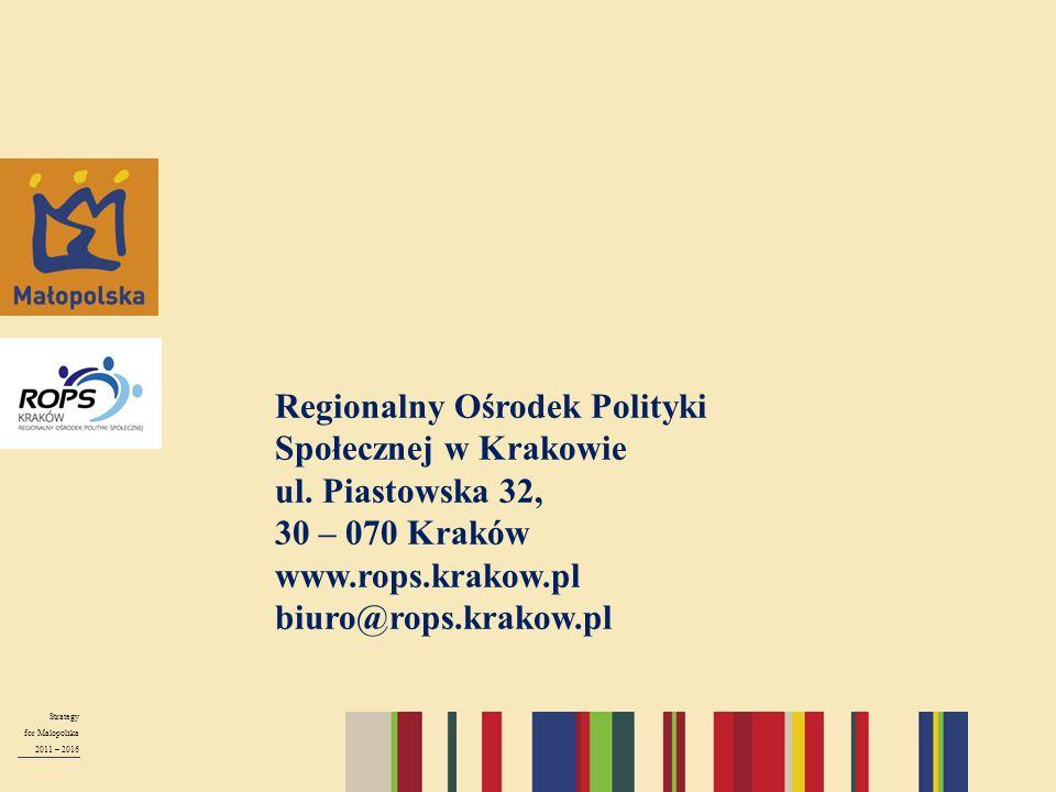 Regionalny Ośrodek Polityki Społecznej w Krakowie ul