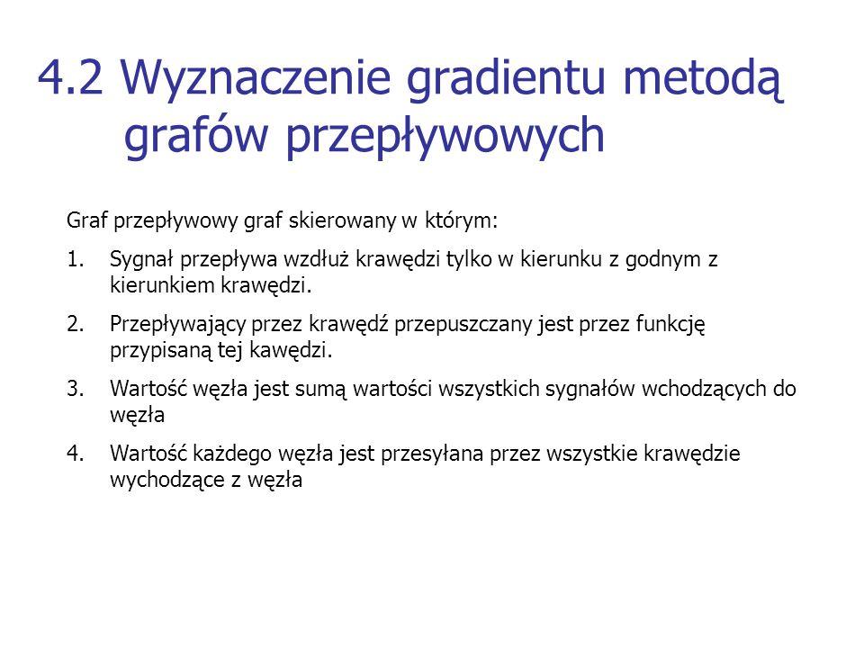 4.2 Wyznaczenie gradientu metodą grafów przepływowych
