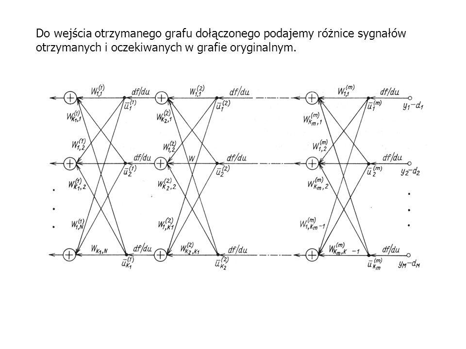 Do wejścia otrzymanego grafu dołączonego podajemy różnice sygnałów otrzymanych i oczekiwanych w grafie oryginalnym.