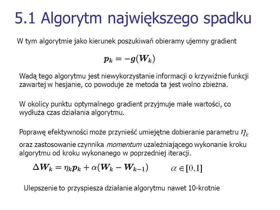 5.1 Algorytm największego spadku