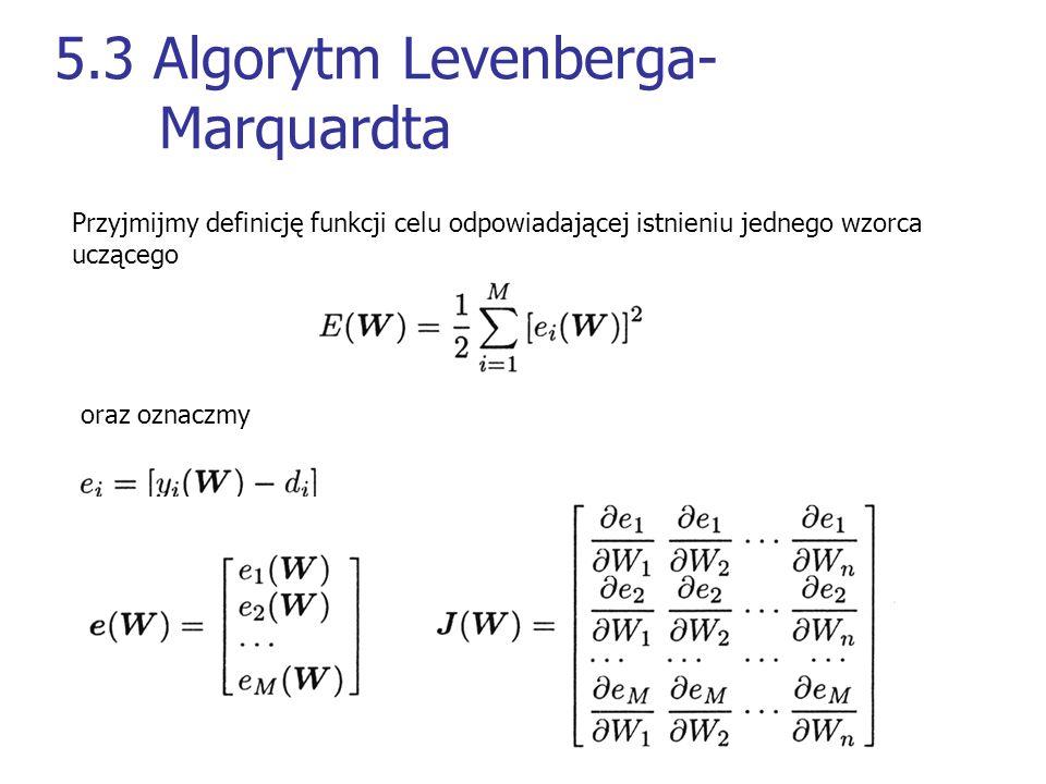 5.3 Algorytm Levenberga- Marquardta