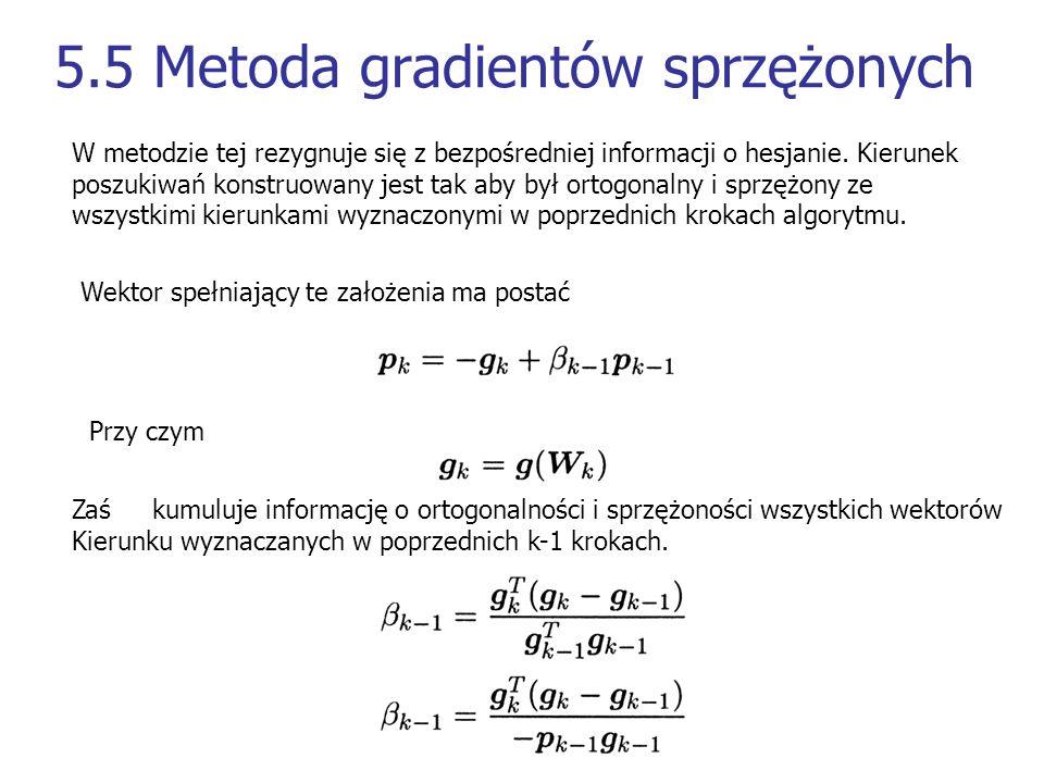 5.5 Metoda gradientów sprzężonych