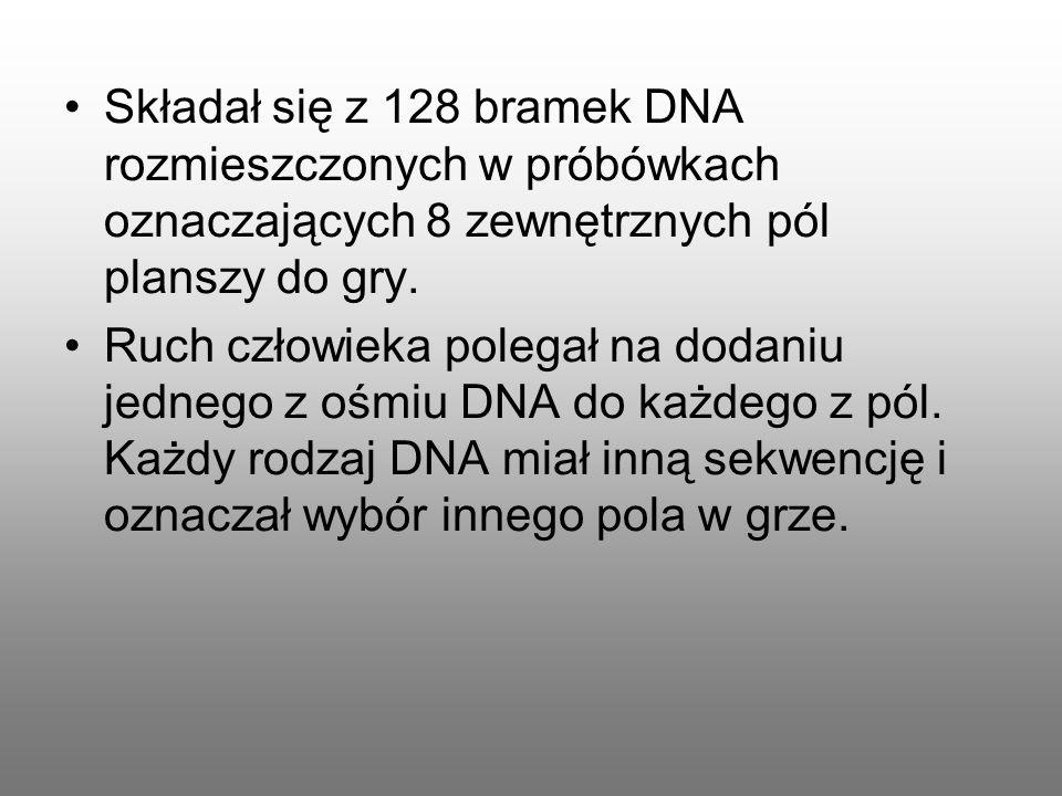 Składał się z 128 bramek DNA rozmieszczonych w próbówkach oznaczających 8 zewnętrznych pól planszy do gry.