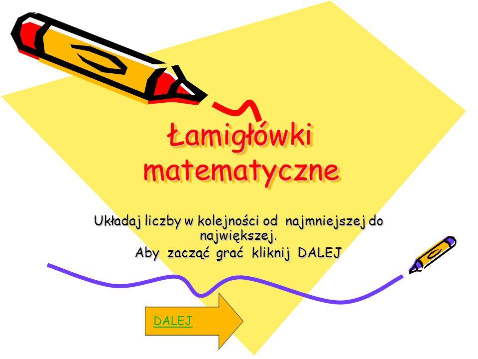 Łamigłówki matematyczne