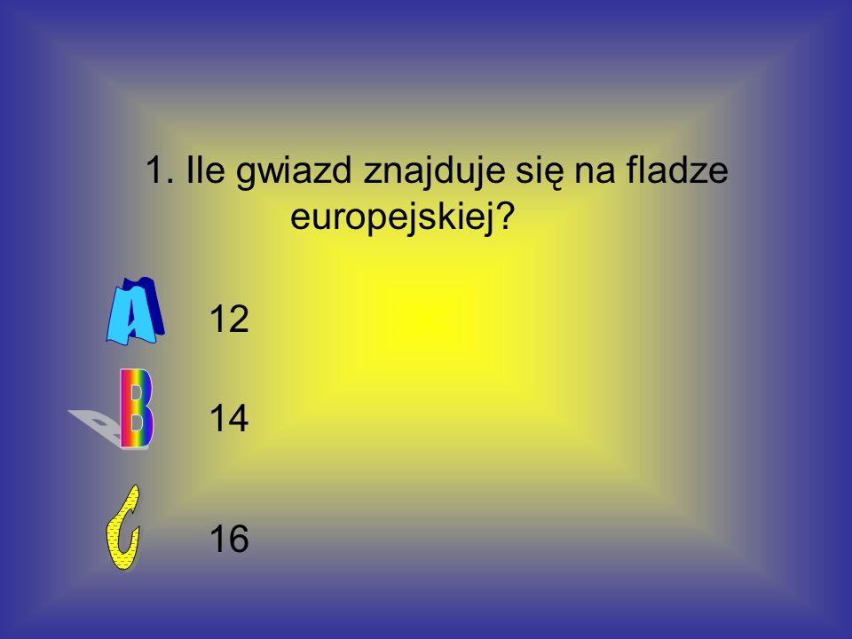 1. Ile gwiazd znajduje się na fladze