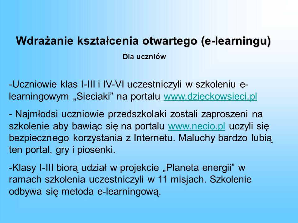 Wdrażanie kształcenia otwartego (e-learningu)