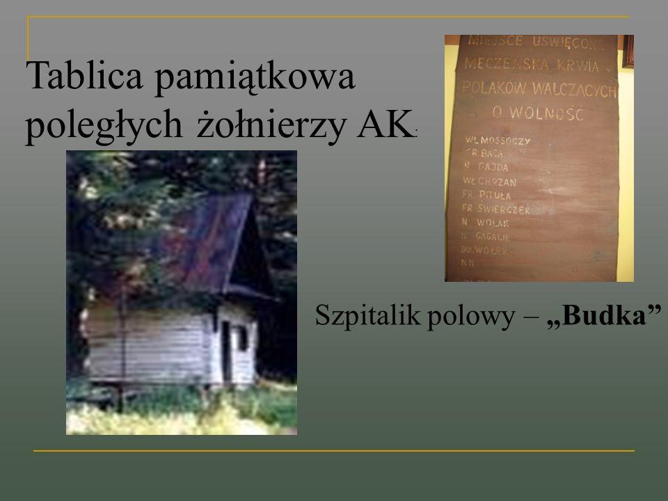 Tablica pamiątkowa poległych żołnierzy AK: