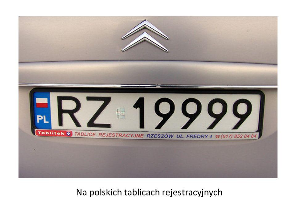Na polskich tablicach rejestracyjnych