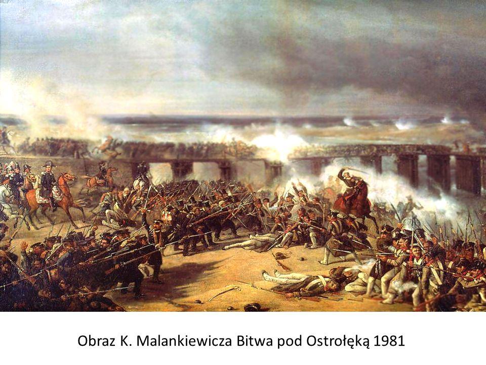 Obraz K. Malankiewicza Bitwa pod Ostrołęką 1981