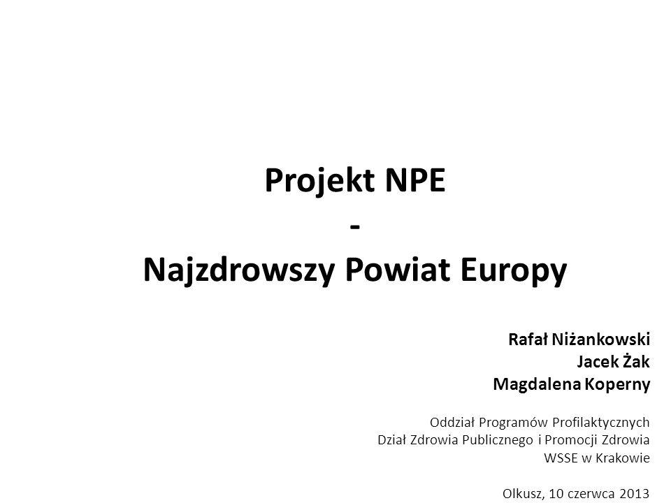 Projekt NPE - Najzdrowszy Powiat Europy