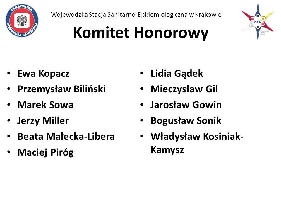Komitet Honorowy Ewa Kopacz Lidia Gądek Przemysław Biliński