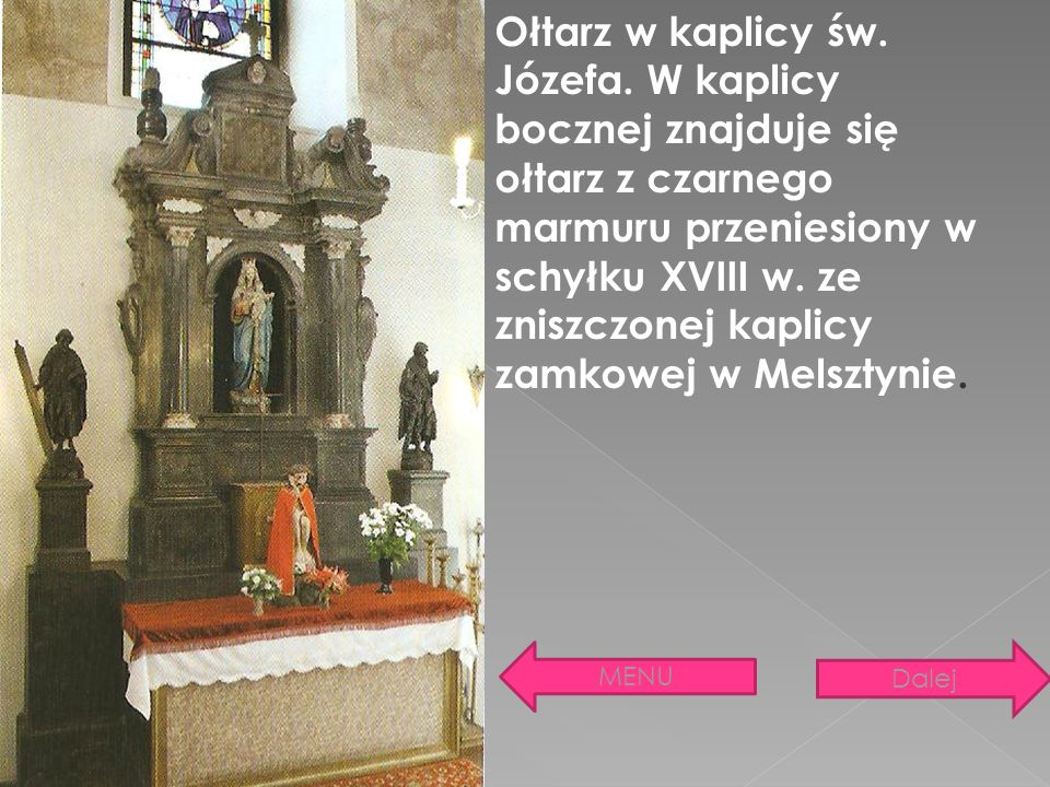 Ołtarz w kaplicy św. Józefa