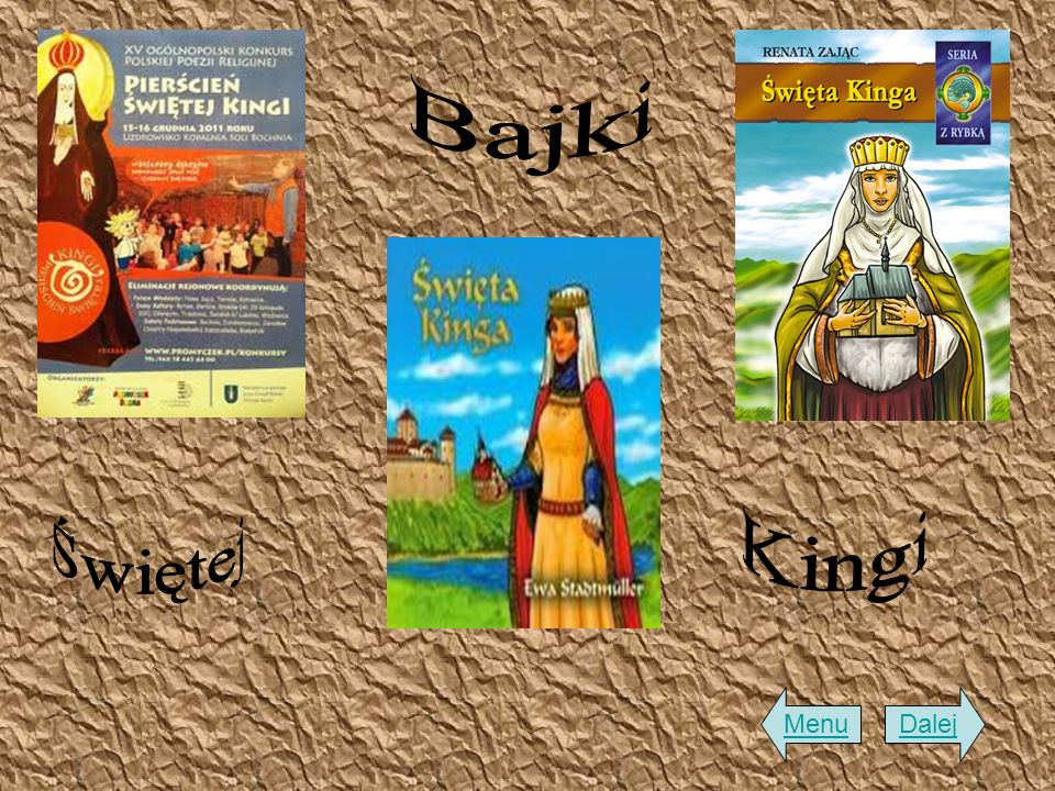 Bajki Świętej Kingi Menu Dalej