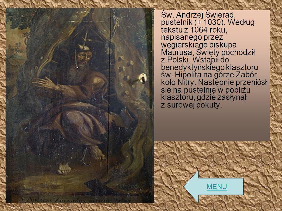 Św. Andrzej Świerad, pustelnik (+ 1030)