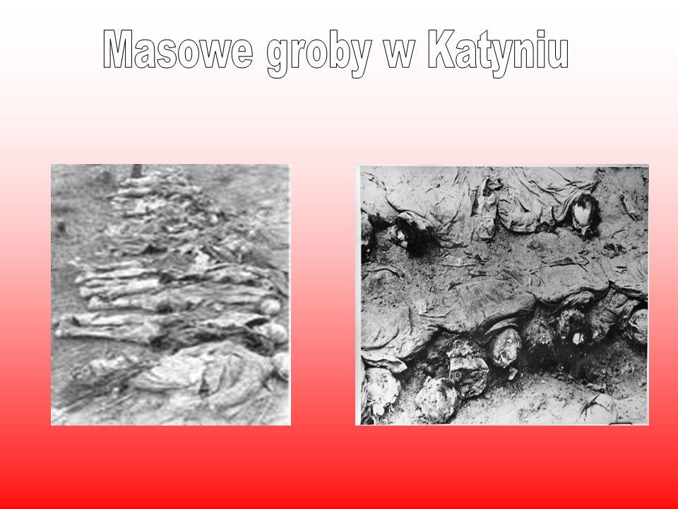 Masowe groby w Katyniu