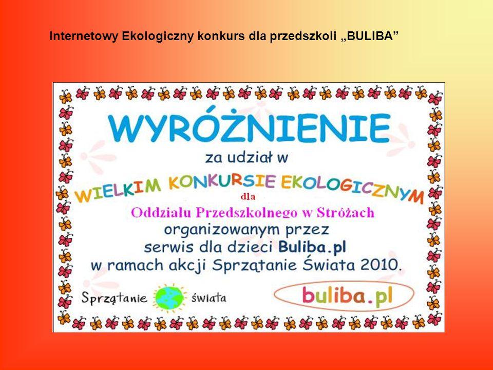 """Internetowy Ekologiczny konkurs dla przedszkoli """"BULIBA"""