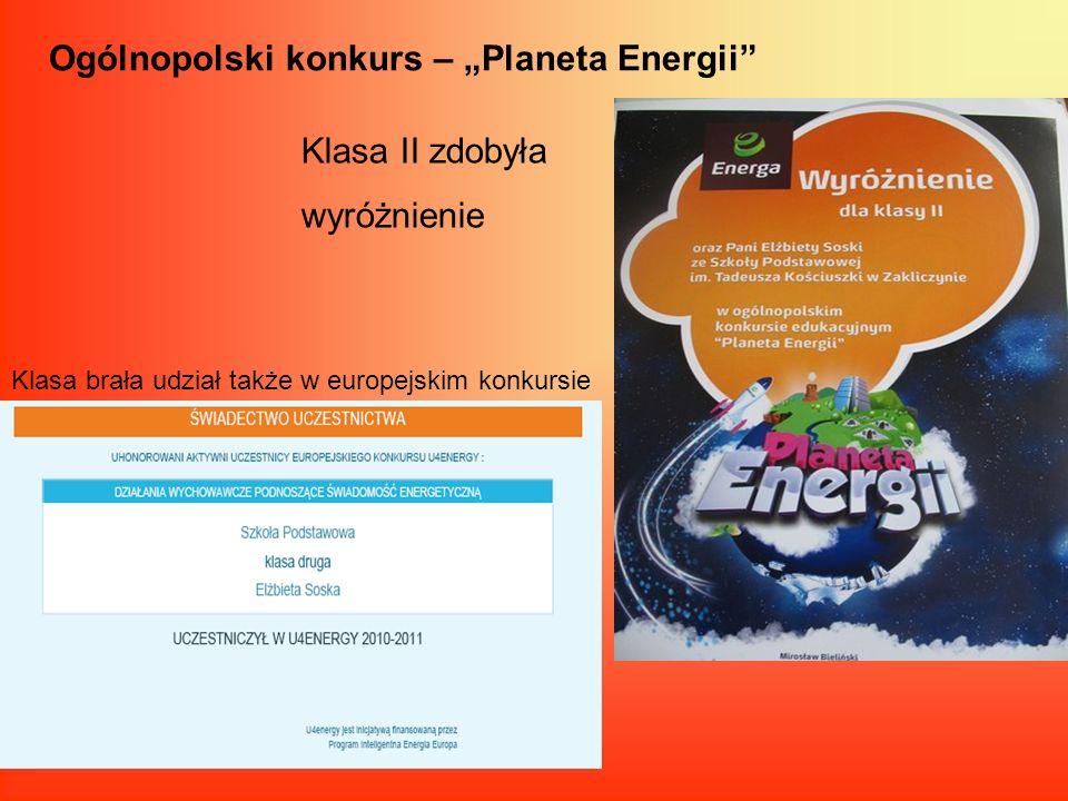 """Ogólnopolski konkurs – """"Planeta Energii"""