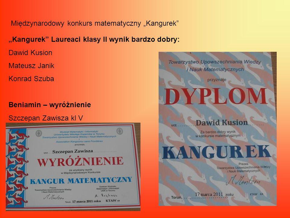 """Międzynarodowy konkurs matematyczny """"Kangurek"""
