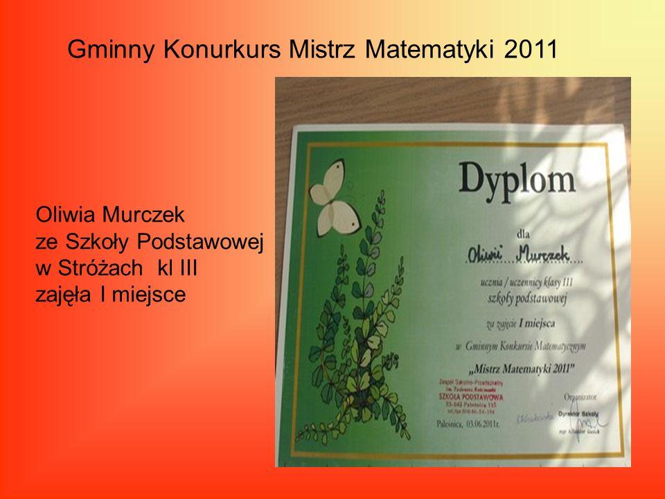 Gminny Konurkurs Mistrz Matematyki 2011